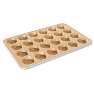 Nordic Ware Naturals Aluminum NonStick Petite Muffin Pan, Twenty-four 2-Inch Cups