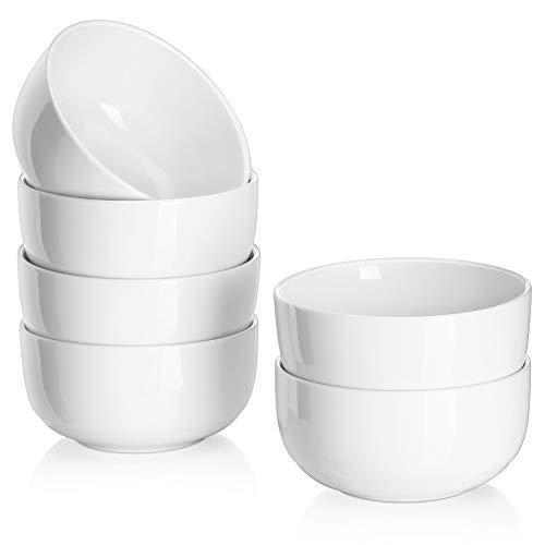 10 Ounces Porcelain Bowls Set, 6 Packs