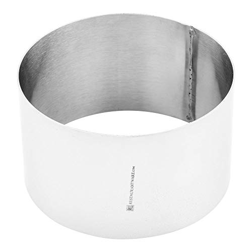 """Ring Mold, Ring Mould - Round Pastry Mold - Stainless Steel - Commercial Grade - 4"""" - 1ct Box - Restaurantware (RWM004)"""
