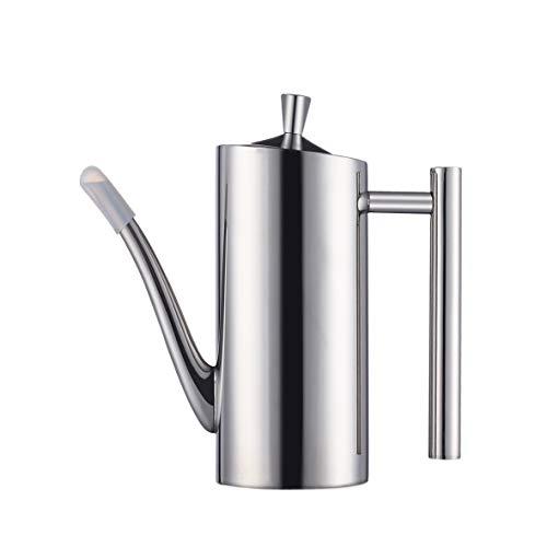 EAMATE Olive Oil Dispenser, Stainless Steel 304 Oil & Vinegar Cruet, Drip Free Sauce Bottle for Kitchen (17OZ)
