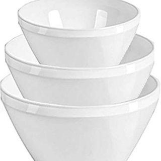 Delling Serving Bowls - Large Ceramic Mixing Bowls Set - 23/46/76 OZ White Cereal/Serveware Bowls Fruit Bowls Set for Dinner/Kitchen Parties,Holiday,Serving -Soup/Salad Bowls-Set of 3
