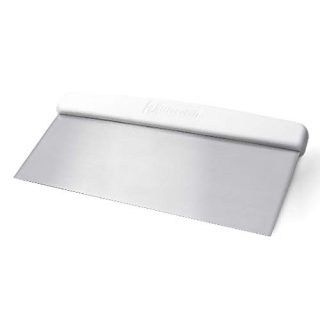 Bleteleh Extra Wide Bench/Dough Scraper, Stainless Steel Blade, Commercial Kitchen Tool with Safe Non-Slip Handle