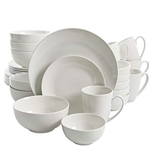 Gibson Home Zen Buffet Dinnerware Set, Service for 6 (30pcs), White (Coupe)