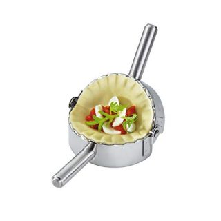 Best Utensils Stainless Steel Ravioli Mold Pierogi Dumpling Maker Wrapper Pastry Dough Cutter Kitchen Accessories (L: 4.5 inch)