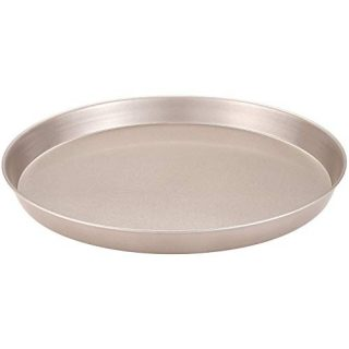 CHEFMADE Pizza Pan, 10-Inch Non-Stick Pancake Bakeware for Oven Baking (Champagne Gold)