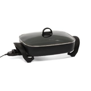 West Bend 72215 Electric Extra-Deep Oblong 12-by-14.5-Inch Nonstick Skillet, Black