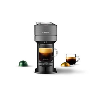 Nespresso Vertuo Next Coffee and Espresso Machine by De'Longhi, Dark Grey, Compact, One Touch to Brew, Single-Serve Coffee Maker and Espresso Machine