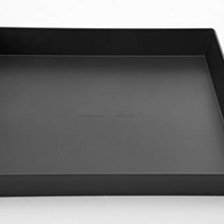 LloydPans 12x12x1.5 inch Style Pre-Seasoned Sicilian Pizza Pan, 12x12x1.5, Dark Gray