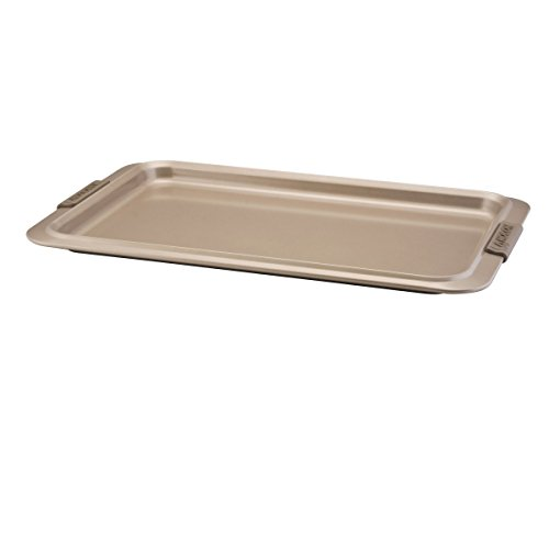 Anolon Bronze Nonstick Baking Sheet / Cookie Sheet / Cookie Pan with grips - 11 Inch x 17 Inch, Brown