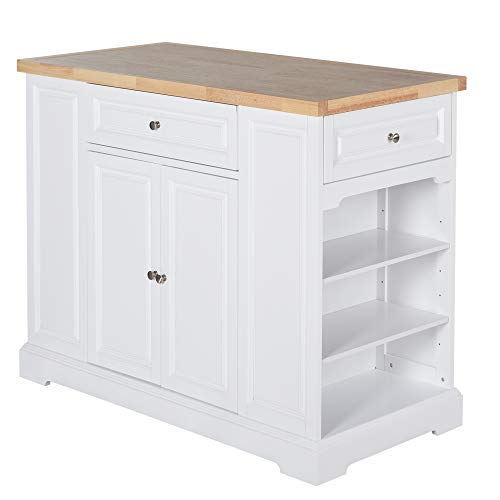 Rolling Kitchen Island Trolley Storage Cart with Drawers