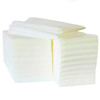 Disposable Bathroom Guest Towels (100 Ct) - Cloth Like Paper Dinner Napkins – Soft, Absorbent & Lint Free - Great For Powder Room, Kitchen, Dining, Parties, Weddings & Events