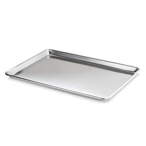 """New Star Foodservice 36893 Commercial-Grade 18-Gauge Aluminum Sheet Pan/Bun Pan, 15"""" L x 21"""" W x 1"""" H (Two Thirds size) 