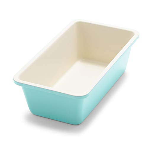 """GreenLife Bakeware Healthy Ceramic Nonstick, Loaf Pan, 8.5"""" x 4.4"""", Turquoise"""