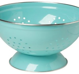 Now Designs Metal Colander, 3-Quart, Turquoise -