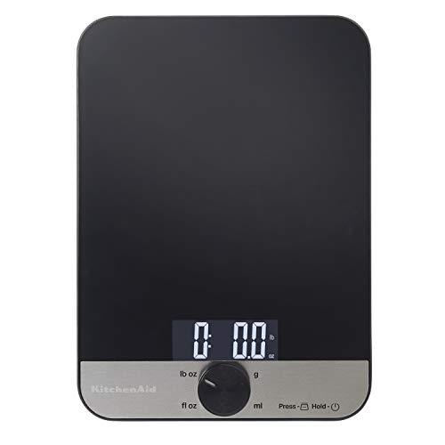 KitchenAid Glass 11 Pound Digital Top Kitchen Scale, One