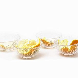 3 Ounce 3.25x1.5 inch Heat Resistant Glass Bowl for Ice Cream Dessert,Soy Sauce Dishes,Appetizer Spoons Stackable,Mini Side Dishes Ramekins Transparent 4 Packs (Point Bowl)