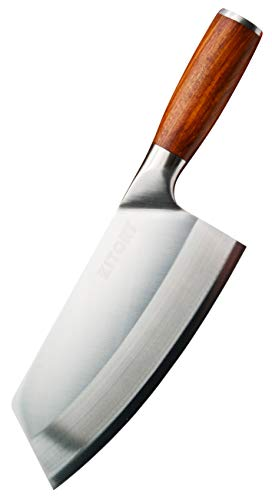 Kitory Cleaver Knife 7 Inch – High Carbon German Steel Chinese Chef Knife with Pakkawood Handle, Vegetable Cleaver Knife with case, Anti-rust Kitchen Knife for Cooking