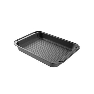 Classic Cuisine Roasting Pan with Rack Nonstick Oven Roaster with Removable Grid to Drain Fat and Grease-Healthier Cooking with Kitchen Bakeware