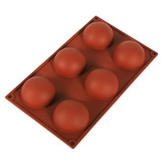 Silicone Mold for Chocolate/Cake/Jelly/Pudding/Handmade Soap, BPA-free & Non-stick Round and Square Shape Chocolate Molds, 100% Food-grade DIY Muffin Bakeware Kitchen Tools (A-1PC/6 holes)
