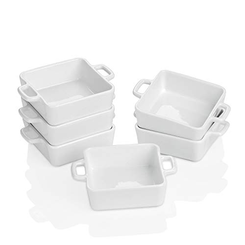 Square Double Handle Ramikins for Pudding