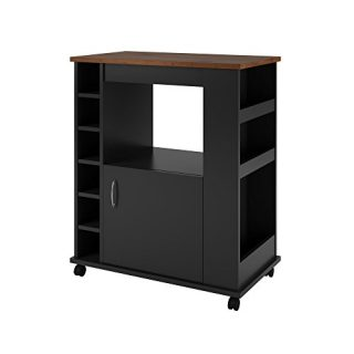 Ameriwood Home Williams Kitchen Cart, Black