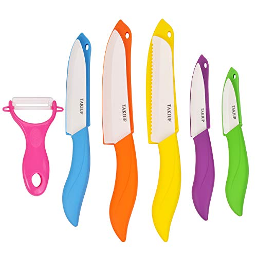 Kitchen Knife Set with Sheath Covers and Peeler Set