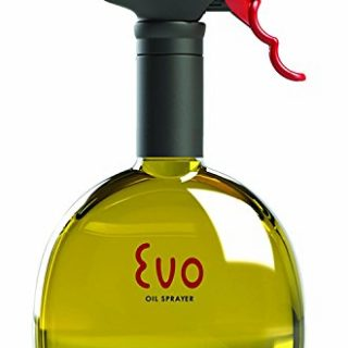 Evo Oil Sprayer Evo Sprayer Bottle, Non-Aerosol for Olive Cooking Oils, 18-Ounce Capacity, 18 oz, Yellow