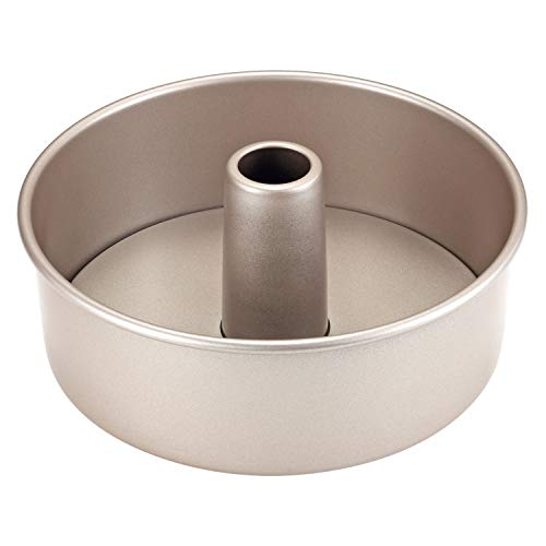 CHEFMADE Angel Food Cake Pan, 8-Inch with Removable Loose Bottom Non-Stick Chiffon Tube Pan 2-Cups for Oven and Instant Pot Baking (Champagne Gold)