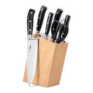 6 Pieces Kitchen Knives with Wooden Block