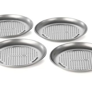Calphalon 4 PACK MINI PIZZA PAN, 7-in, Silver