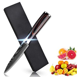 Soffiya Paring Knife 3.5 Inch, Kitchen Knives Fruit Peeling Vegetable Cutting High Carbon Stainless Steel, with Pakkawood Handle