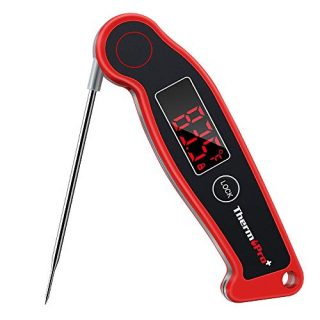 ThermoPro TP19 Waterproof Digital Meat Thermometer for Grilling with Ambidextrous Backlit & Thermocouple Instant Read Thermometer Kitchen Cooking Food Thermometer for Candy Water Oil BBQ Grill Smoker