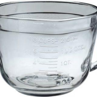 Anchor Hocking 2 Quart Ovenproof Glass Batter Bowl , Clear , 2 L -