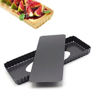 """14.4 Inches Removable Loose Bottom Non-Stick Rectangle Tart Pan - 14.4"""" x 5.9"""" x 1.2"""""""