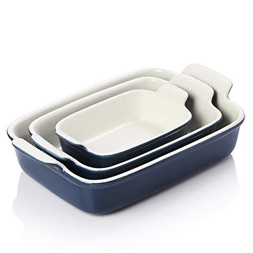 Bakeware Set for Cooking, Ceramic Rectangular