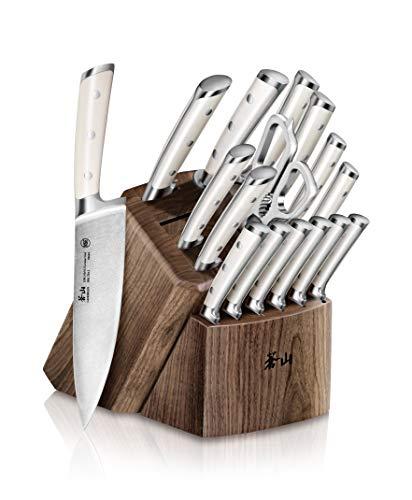 Cangshan S1 Series 1022599 German Steel Forged 17-Piece Knife Block Set, Walnut