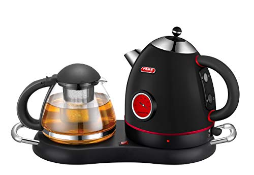 Cordless Electric Stainless Kettle Set with Water Level Indicator