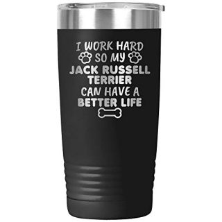 Funny Jack Russell Terrier Gifts Tumbler Travel Mug