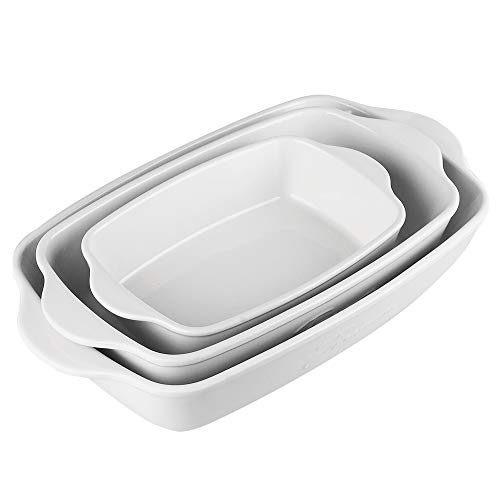 Ceramic Baking Dish, Rectangular Baking Pans for Cooking