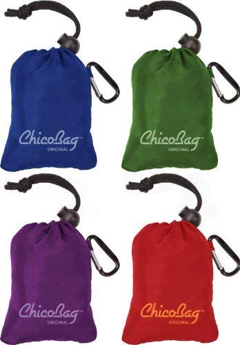Grocery Bag with Attached Pouch and Carabiner Clip