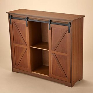 The Lakeside Collection Farmhouse Barn Door Cabinet – Buffet, Entryway Table, Kitchen Storage