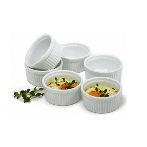 Norpro 3oz/90ml Porcelain Ramekins, Set of 6, One Size, White