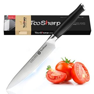 Utility Knife - TooSharp 6 inch Chef Knife German High Carbon Stainless Steel Knife, Fruit and Vegetable Cutting Chopping Carving Knives, Ergonomic Handle with Gifted Box
