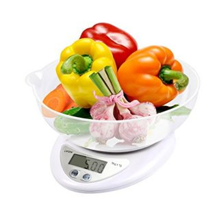 Digital Food Scale, LATOW Food Kitchen Scale Digital Cooking Weight Scale Food Scale Bowl with Ounce Grams High Accuracy Tare Auto Off Multifunctional Function(Battery Included)