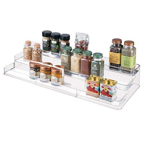 Shelf Organizer/Spice Rack with 3 Tiered Levels of Storage