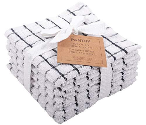 Pantry 100% Cotton Checkered Grid Dish Cloths