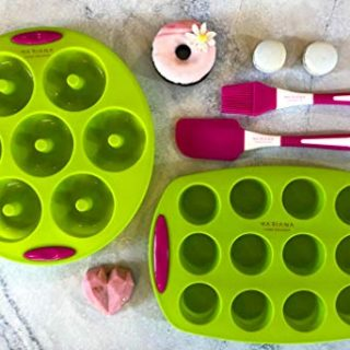 Non-Stick Donut and Cupcake Pans with Handles Combo Kit