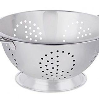 BirdRock Home Round Stainless Steel Colander - Self Draining Pasta Bowl - Kitchen Food Washing Strainer - Wide Grip Handles - Medium