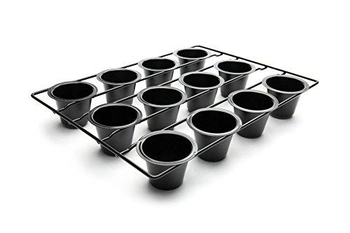 Fox Run 4756 Linking Mini Popover Pan, Carbon Steel, Non-Stick, 12-Cups