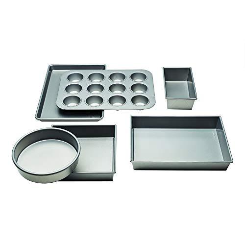 Chicago Metallic Commercial II Non-Stick 6-Piece Bakeware Set, Silver